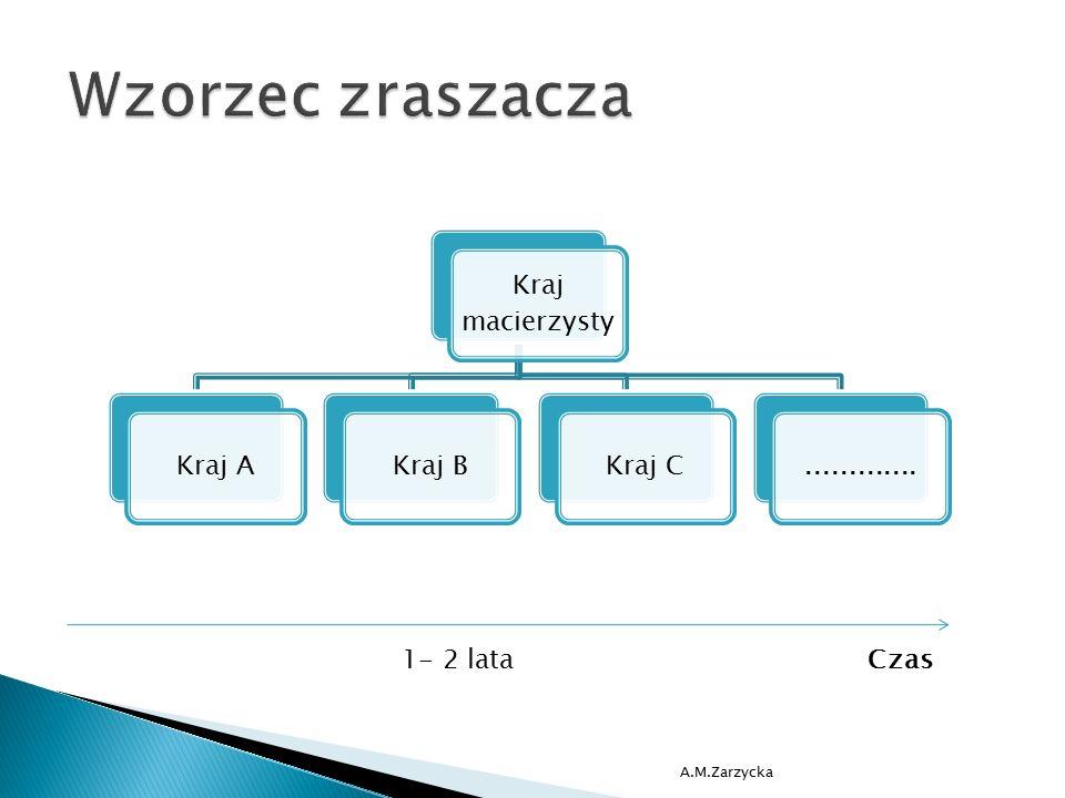 A.M.Zarzycka 1- 2 lataCzas Kraj macierzysty Kraj AKraj BKraj C.............