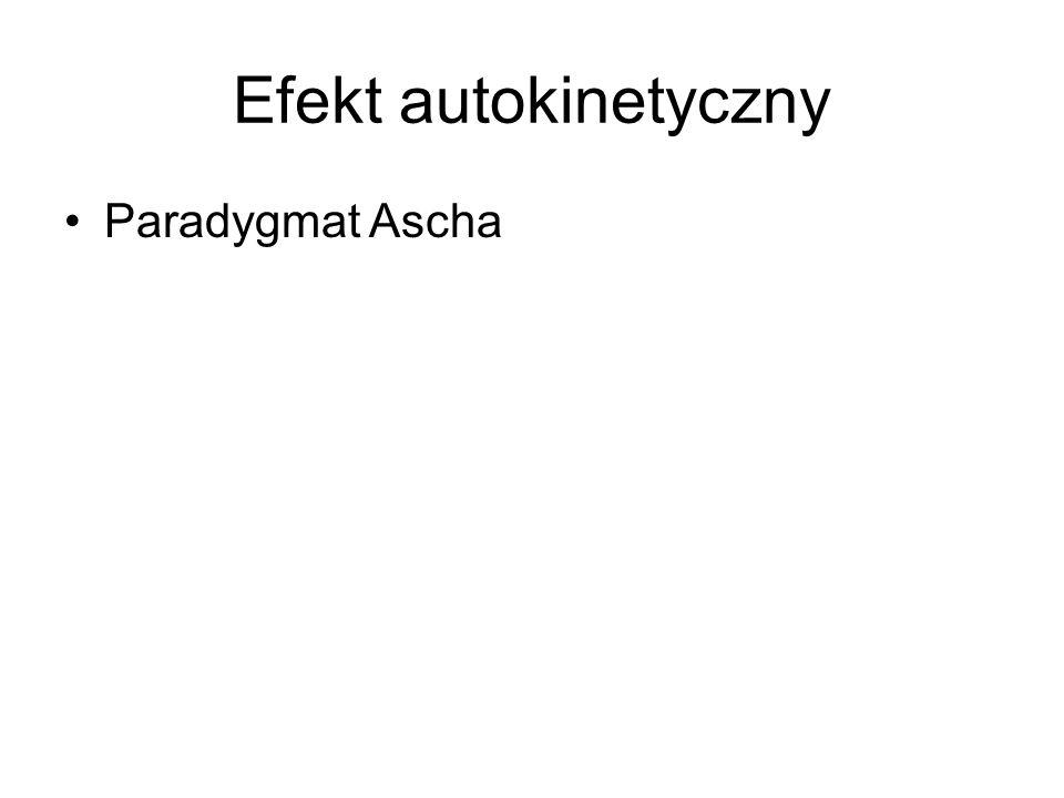 Efekt autokinetyczny Paradygmat Ascha
