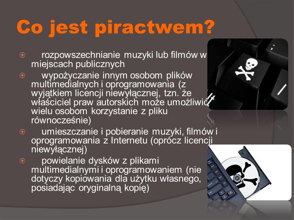 Co jest piractwem.