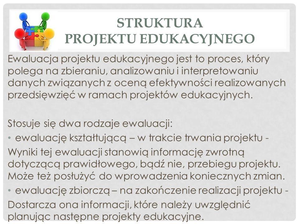 Ewaluacja projektu edukacyjnego jest to proces, który polega na zbieraniu, analizowaniu i interpretowaniu danych związanych z oceną efektywności realizowanych przedsięwzięć w ramach projektów edukacyjnych.