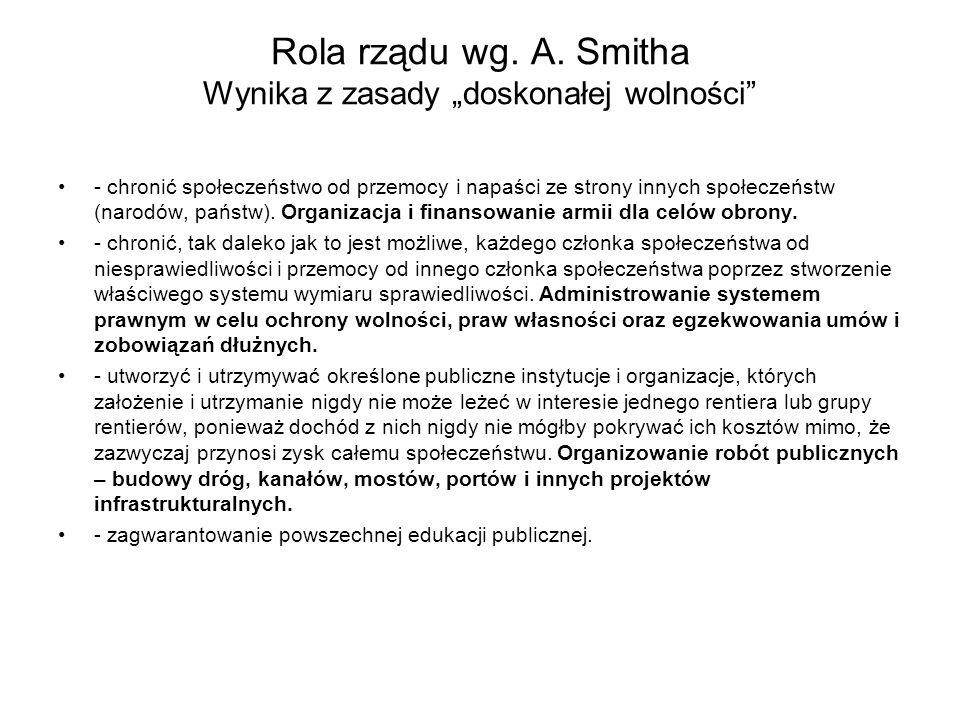 Rola rządu wg.A.