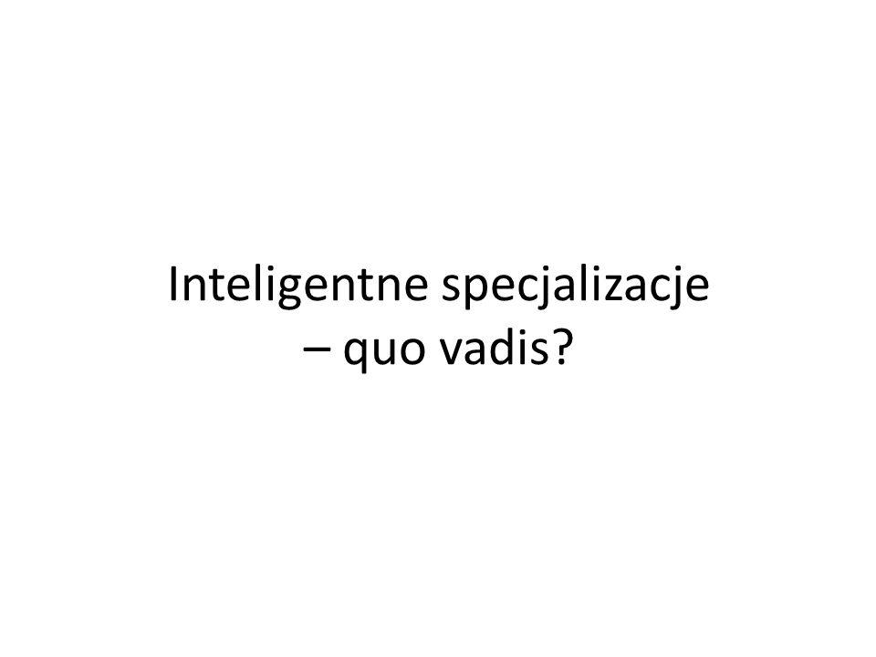 Inteligentne specjalizacje – quo vadis?