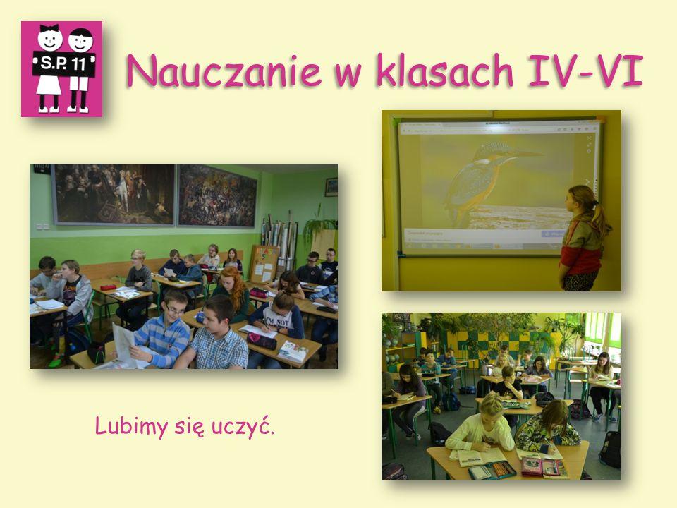 Nauczanie w klasach IV-VI Lubimy się uczyć.