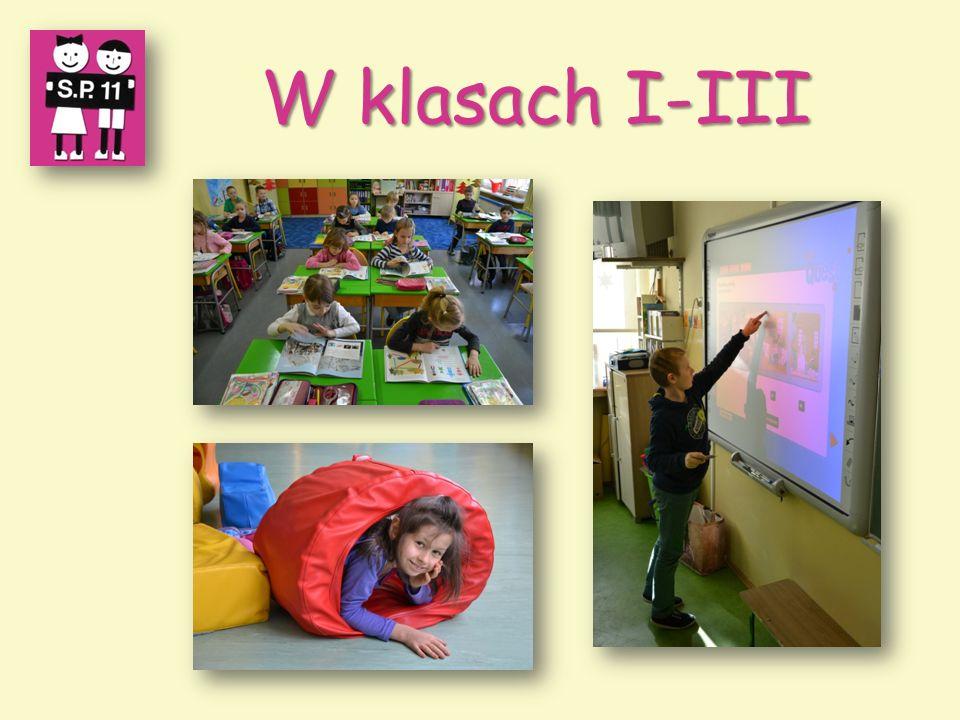W klasach I-III W klasach I-III