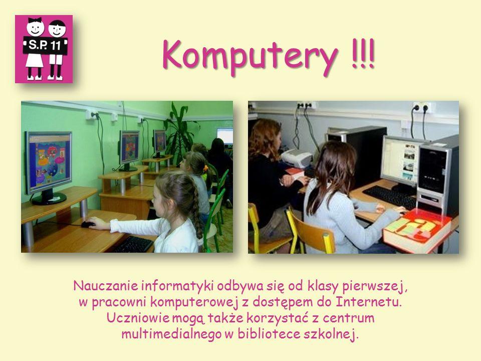 Nauczanie informatyki odbywa się od klasy pierwszej, w pracowni komputerowej z dostępem do Internetu.