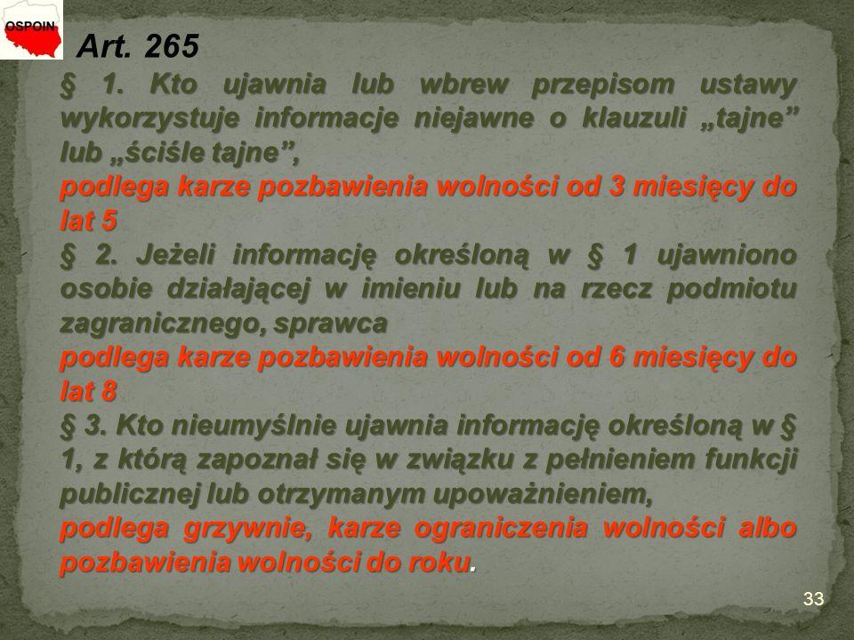 33 Art. 265 § 1.