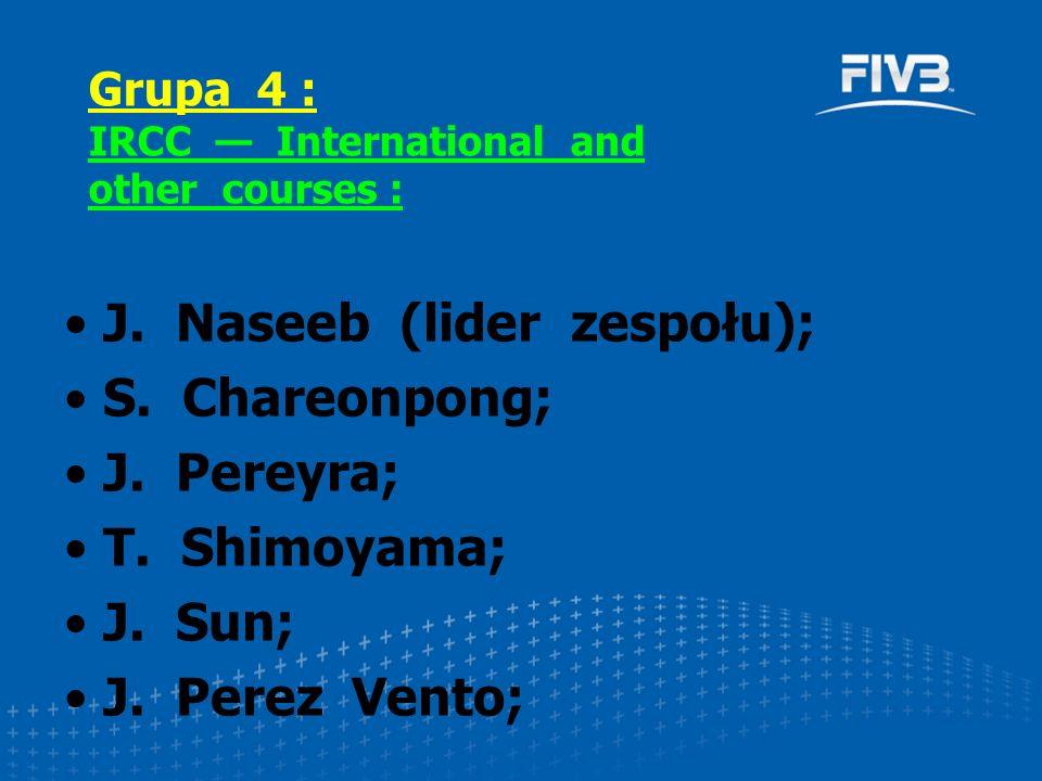J. Naseeb (lider zespołu); S. Chareonpong; J. Pereyra; T.