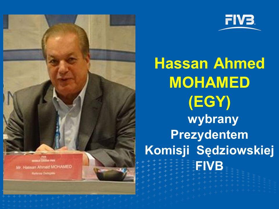 Hassan Ahmed MOHAMED (EGY) wybrany Prezydentem Komisji Sędziowskiej FIVB