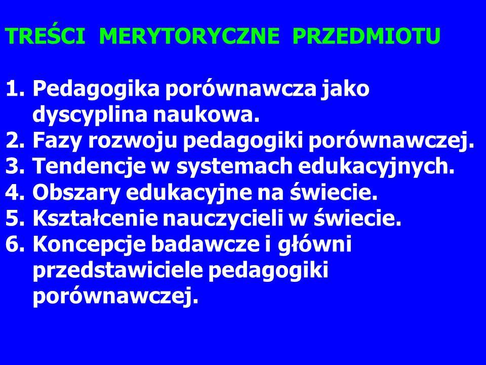 Założenia: Po zakończeniu cyklu wykładów student będzie: 1.rozumiał funkcjonowanie współczesnych systemów edukacyjnych oraz sens reform i przemian w oświacie, 2.