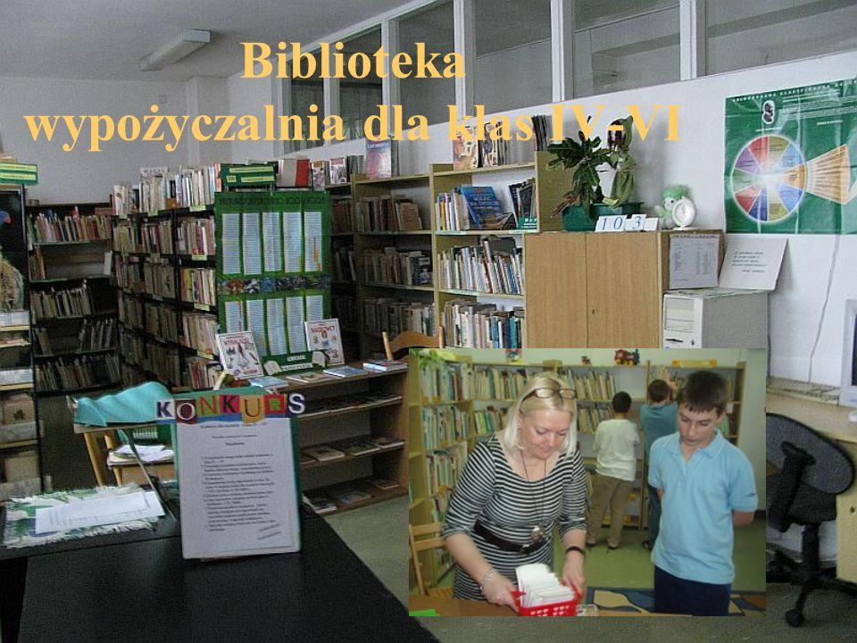 Biblioteka wypożyczalnia dla klas IV-VI