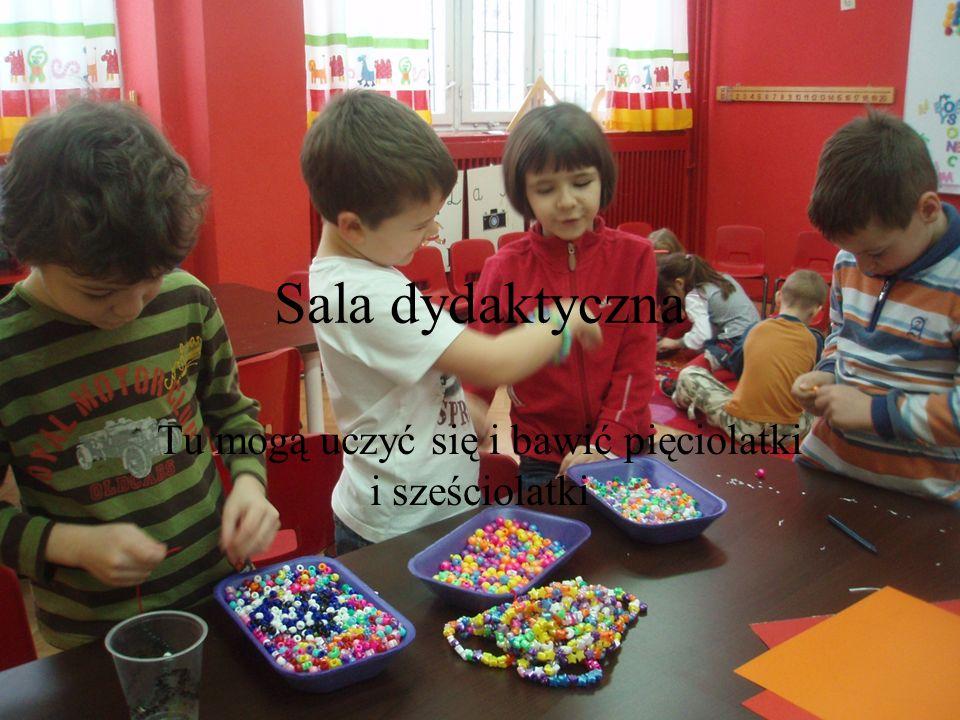Sala dydaktyczna Tu mogą uczyć się i bawić pięciolatki i sześciolatki