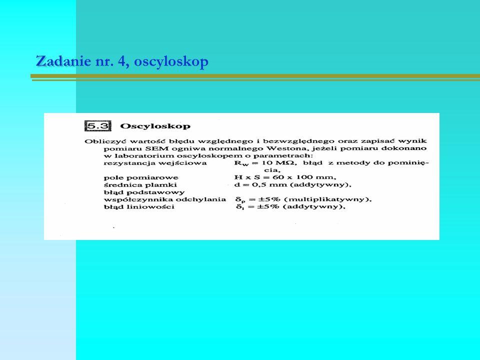 Zadanie nr. 4, oscyloskop