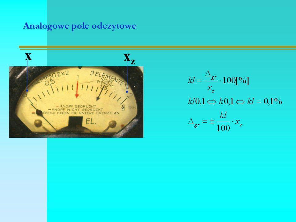 Analogowe pole odczytowe xzxz x
