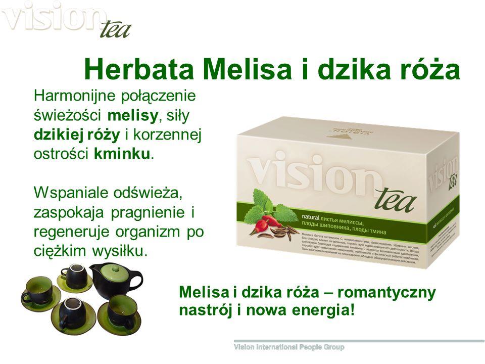 Herbata Melisa i dzika róża Melisa i dzika róża – romantyczny nastrój i nowa energia.