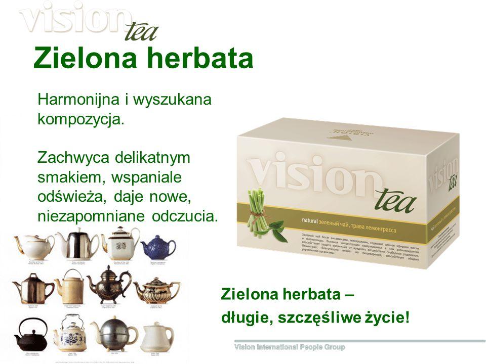 Zielona herbata Harmonijna i wyszukana kompozycja.
