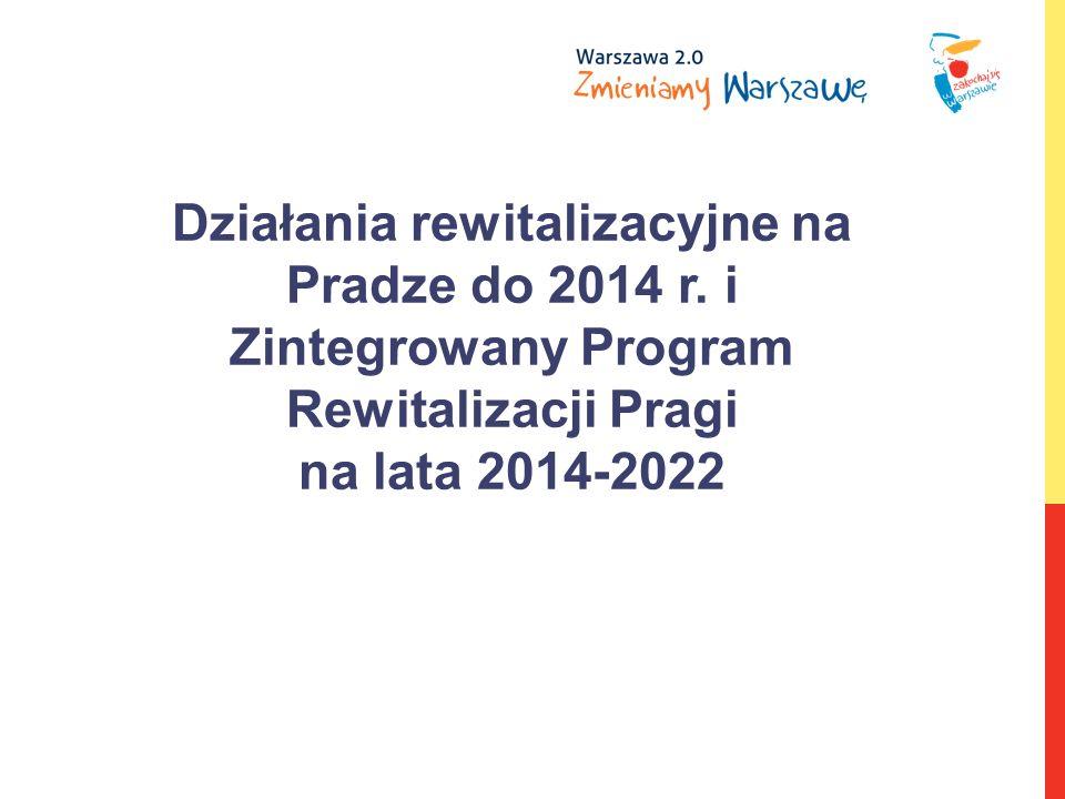 Działania rewitalizacyjne na Pradze do 2014 r.