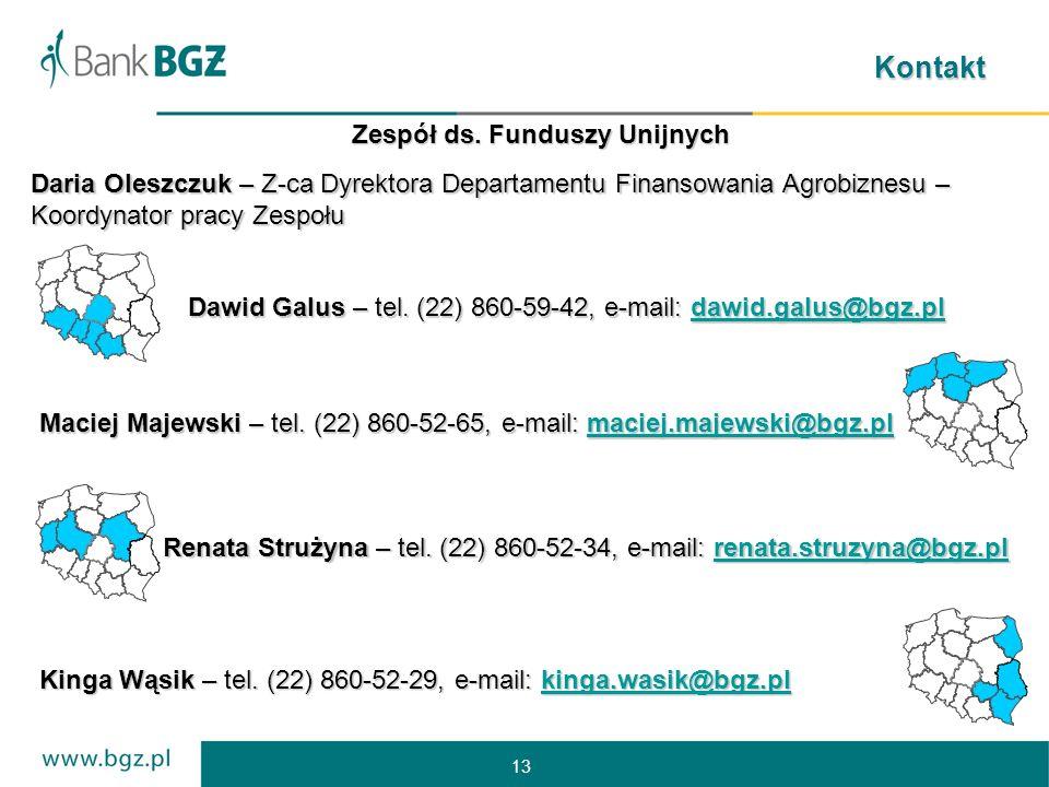 13 Kontakt Dawid Galus – tel.