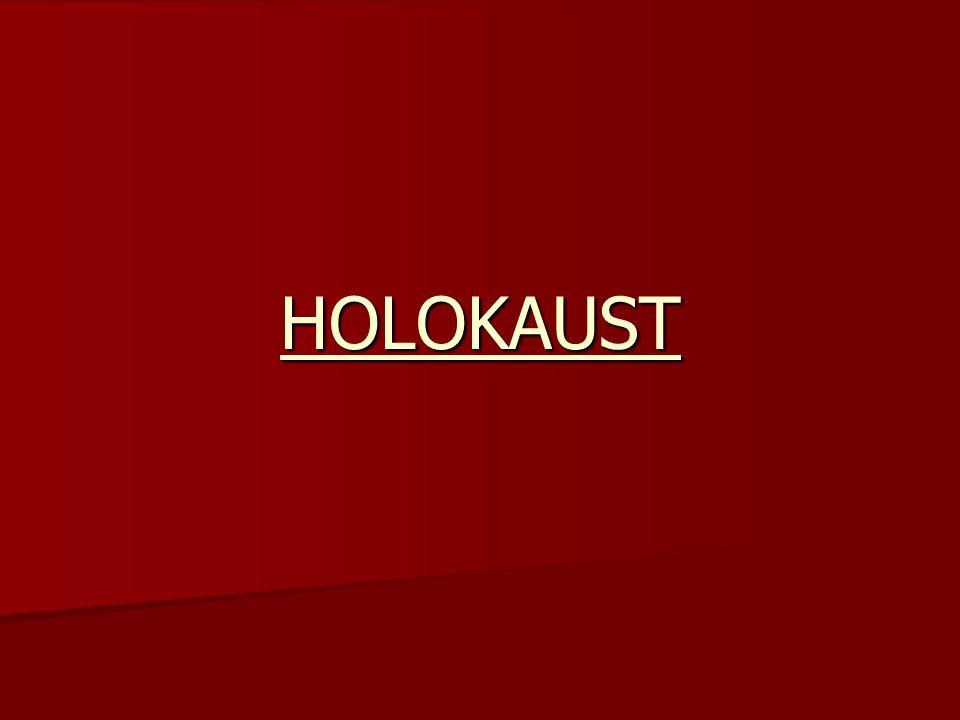 Ludobójstwo około 6 milionów europejskich Żydów dokonane w czasie II wojny światowej przez III Rzeszę.