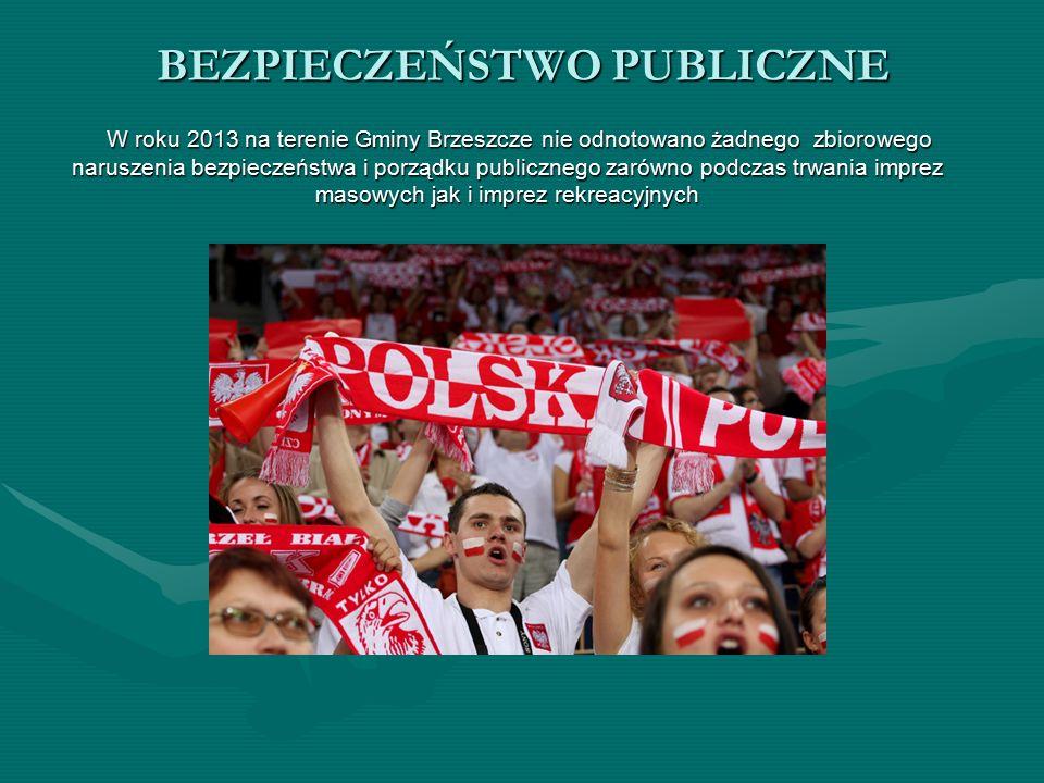 W roku 2013 na terenie Gminy Brzeszcze nie odnotowano żadnego zbiorowego naruszenia bezpieczeństwa i porządku publicznego zarówno podczas trwania imprez masowych jak i imprez rekreacyjnych W roku 2013 na terenie Gminy Brzeszcze nie odnotowano żadnego zbiorowego naruszenia bezpieczeństwa i porządku publicznego zarówno podczas trwania imprez masowych jak i imprez rekreacyjnych BEZPIECZEŃSTWO PUBLICZNE
