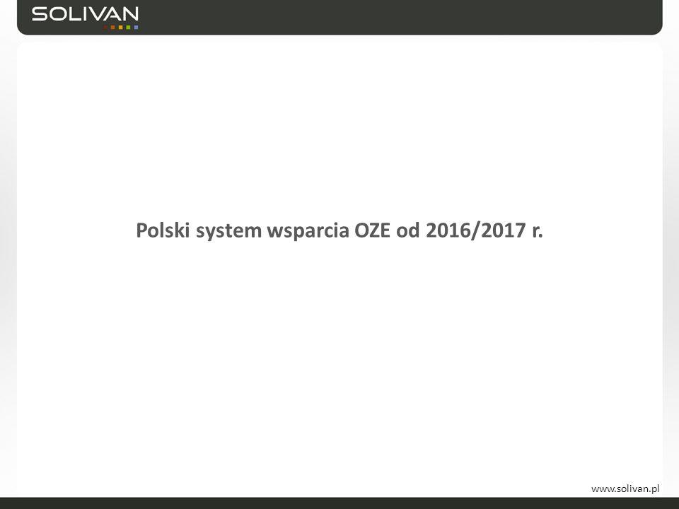 www.solivan.pl Polski system wsparcia OZE od 2016/2017 r.