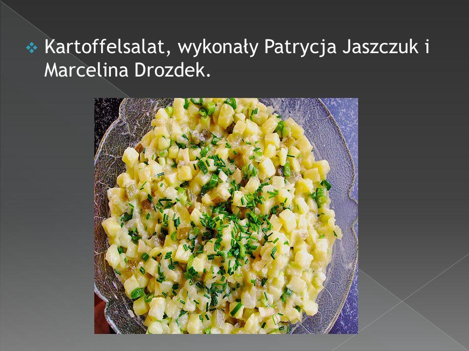 Pudding waniliowy z kuskusa, wykonały Dorota Najdek i Klaudia Pieczarka.