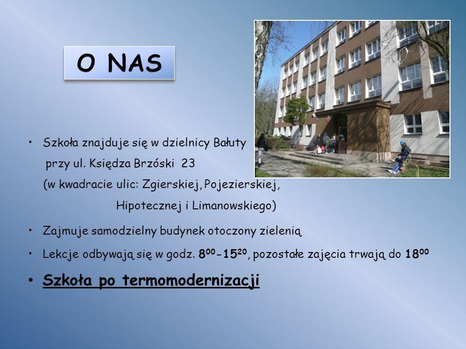 Szkoła znajduje się w dzielnicy Bałuty przy ul.