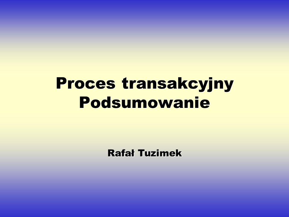Proces transakcyjny Podsumowanie Rafał Tuzimek