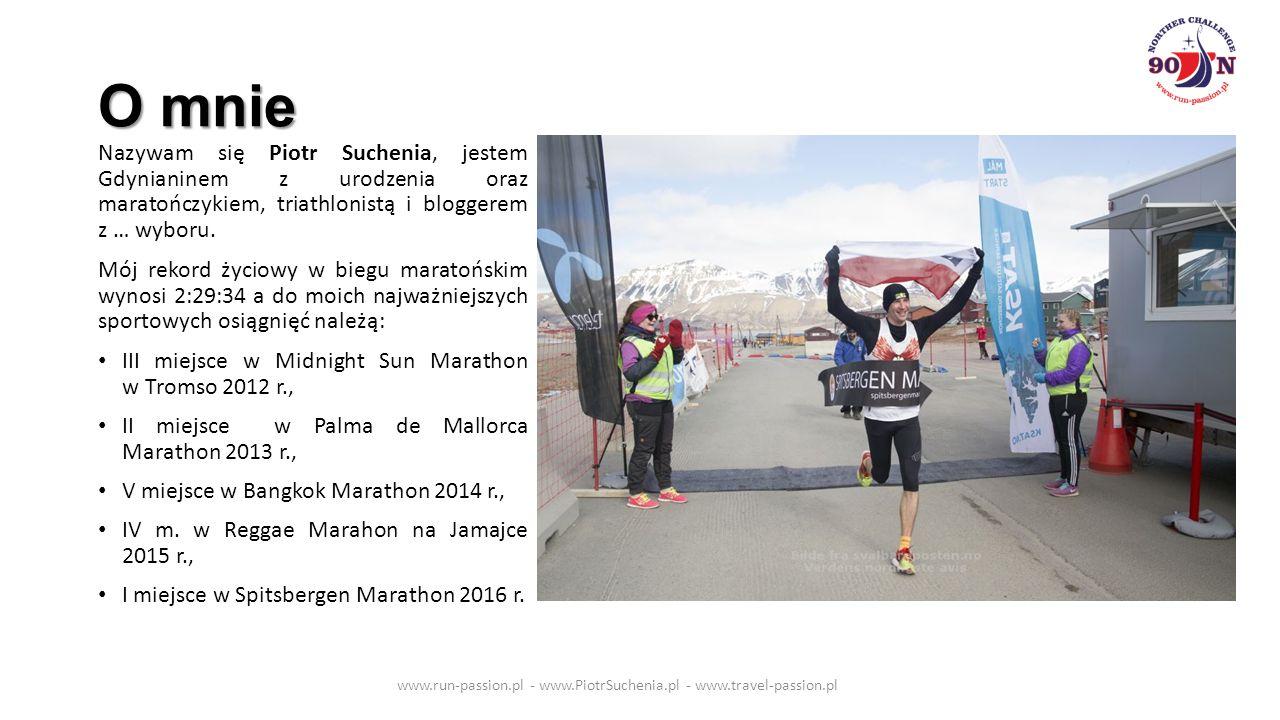 Zapraszam do współpracy www.run-passion.pl - www.PiotrSuchenia.pl - www.travel-passion.pl Piotr Suchenia www.run-passion.pl piotrsuchenia@gmail.com Tel.: 501 398 004