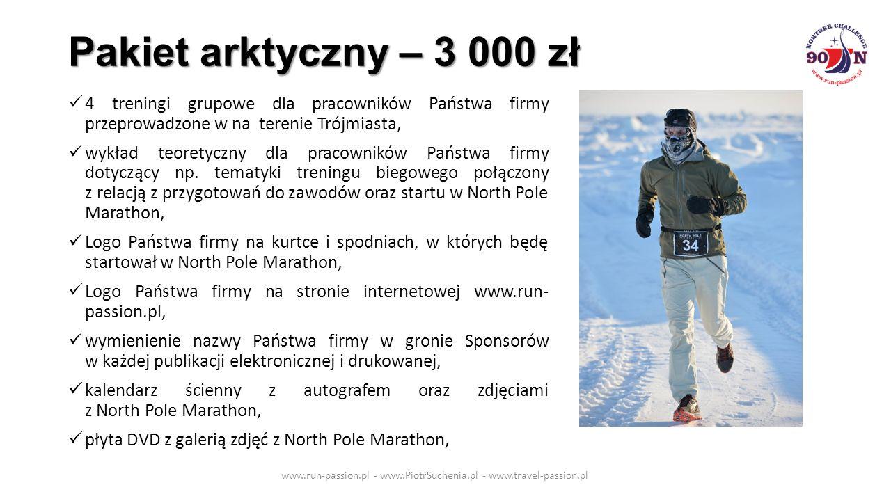 Pakiet arktyczny – 3 000 zł 4 treningi grupowe dla pracowników Państwa firmy przeprowadzone w na terenie Trójmiasta, wykład teoretyczny dla pracowników Państwa firmy dotyczący np.
