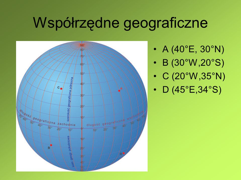 Współrzędne geograficzne Poznań - 16° 55'E, 52° 25' N Wronki - 16° 25'E, 52° 42' N