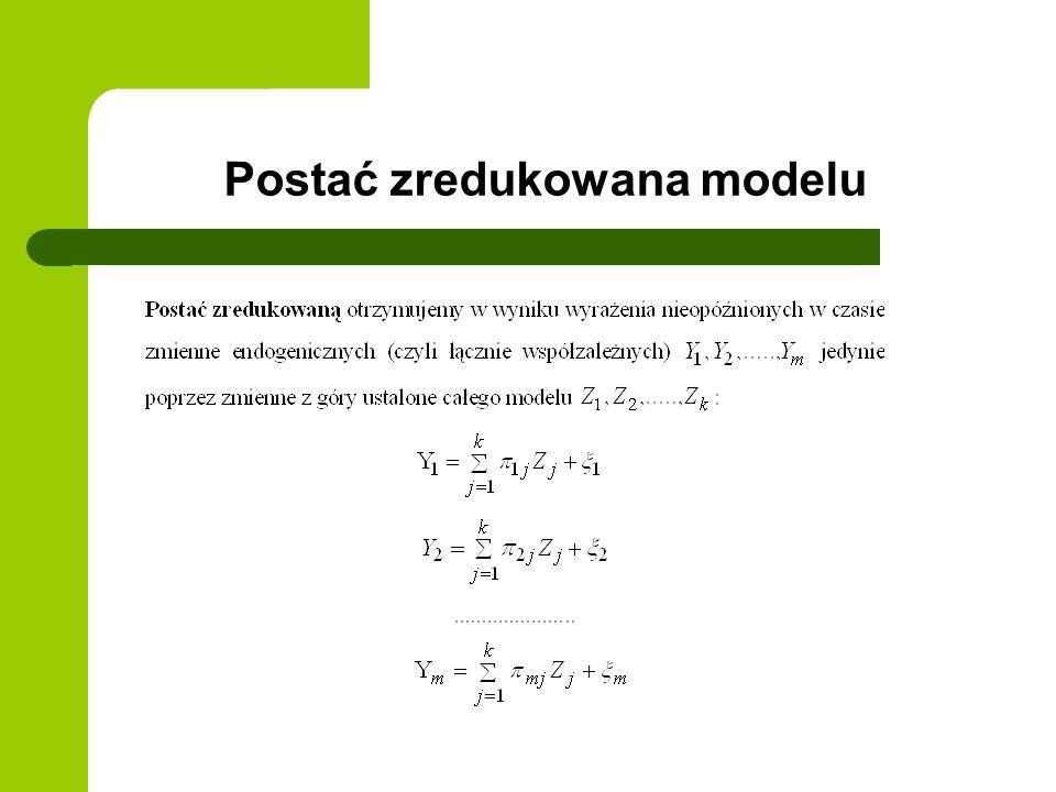 Postać zredukowana modelu