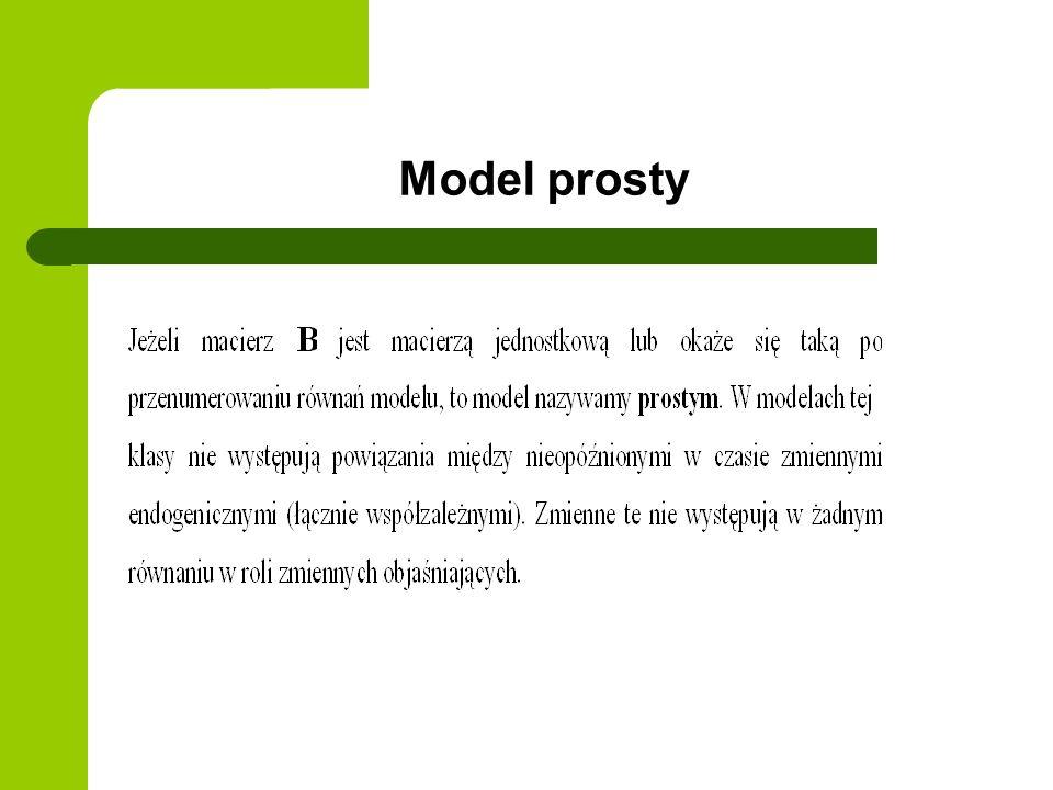 Model prosty