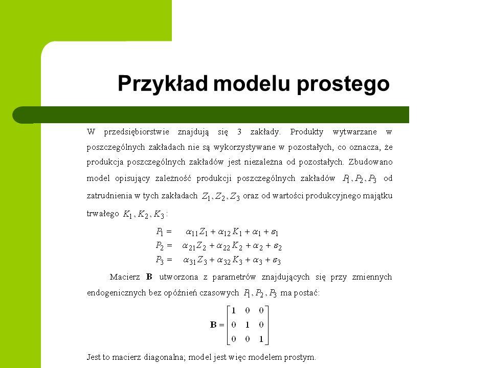 Przykład modelu prostego