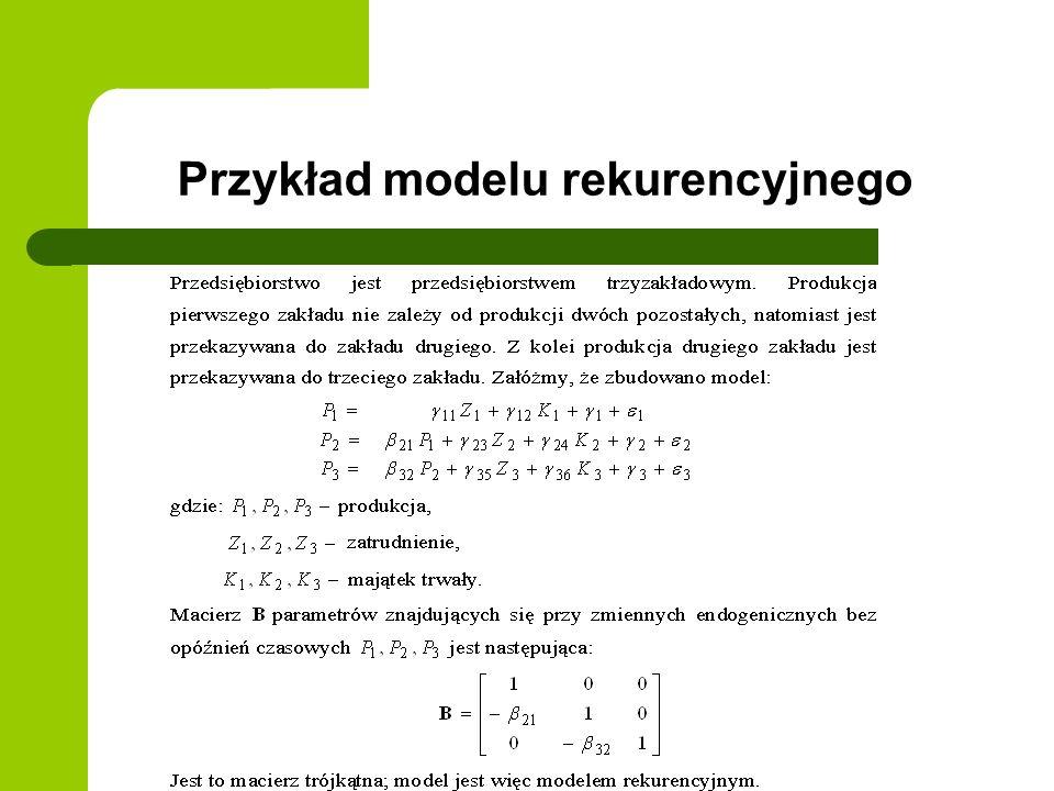 Przykład modelu rekurencyjnego