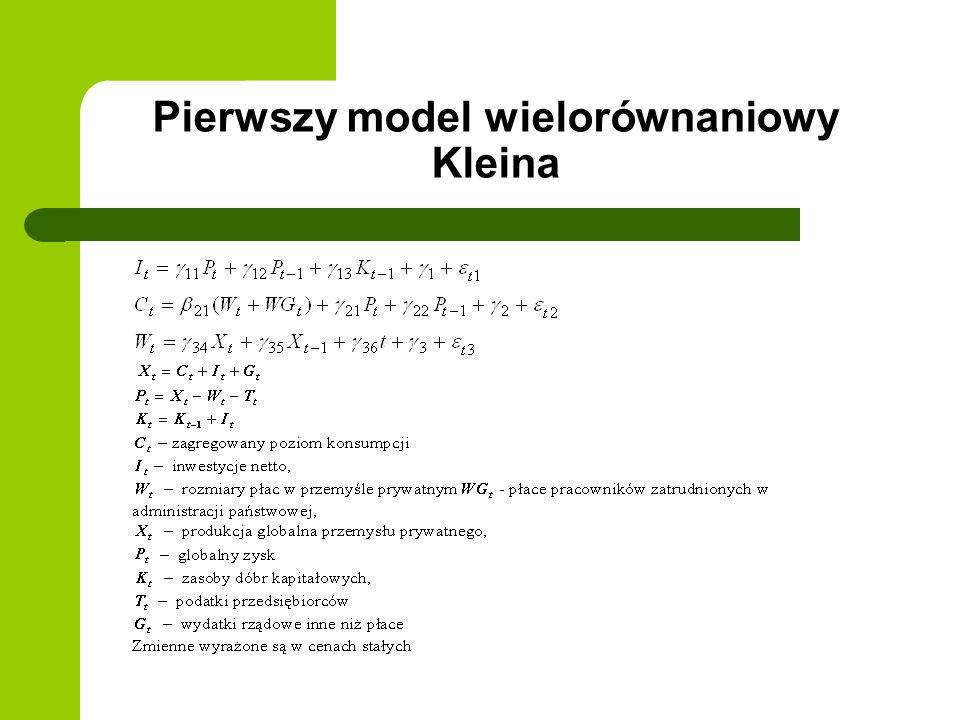 Pierwszy model wielorównaniowy Kleina