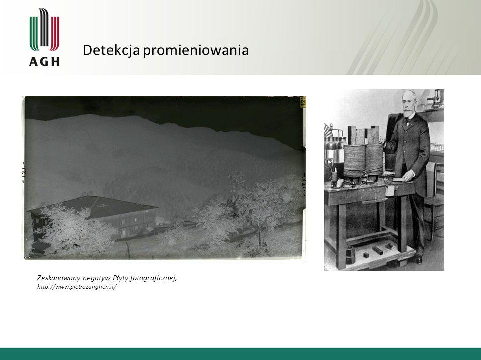 Detekcja promieniowania Zeskanowany negatyw Płyty fotograficznej, http://www.pietrozangheri.it/