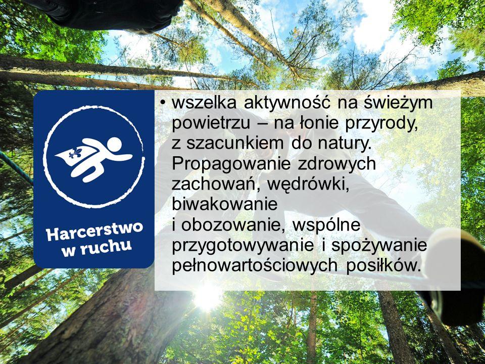 wszelka aktywność na świeżym powietrzu – na łonie przyrody, z szacunkiem do natury.