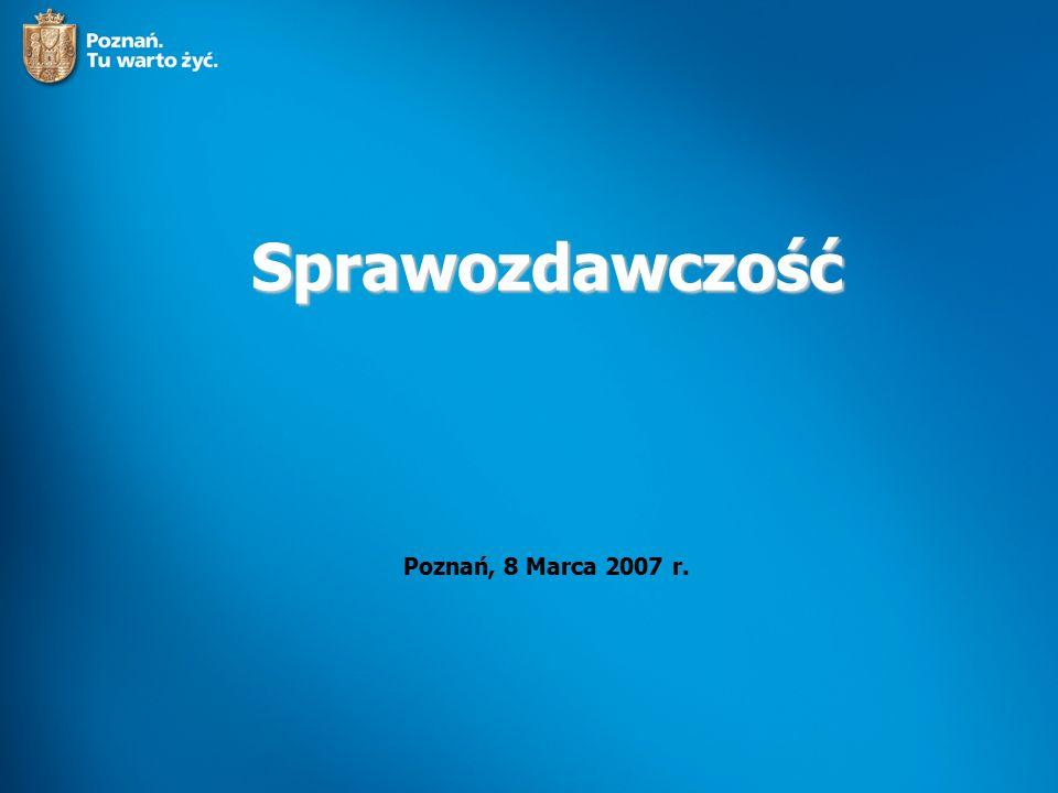 Sprawozdawczość Poznań, 8 Marca 2007 r.