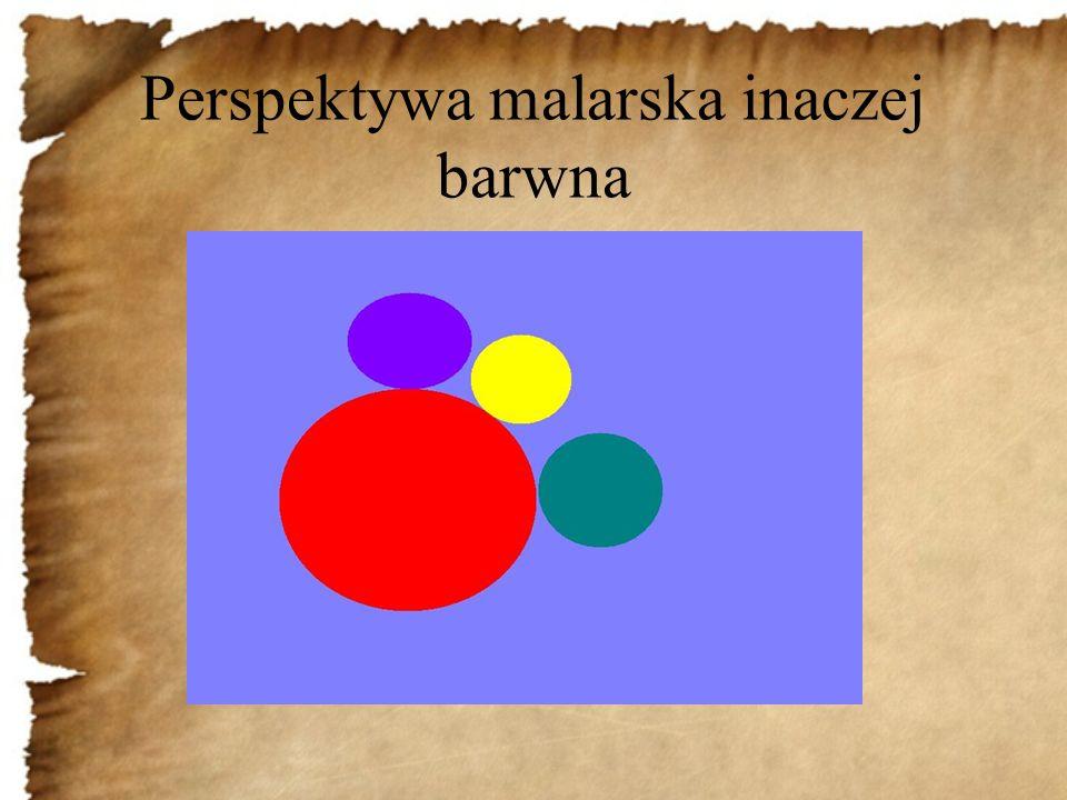 Perspektywa malarska inaczej barwna