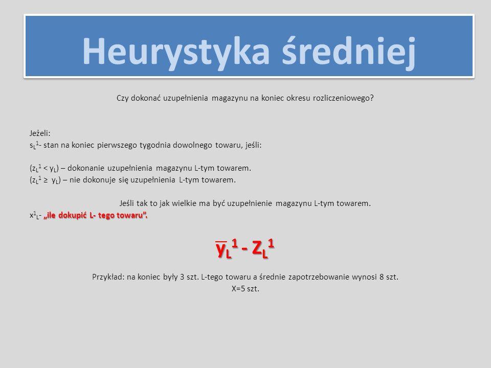 Heurystyka średniej d y L – dolna wartość y g y L – górna wartość y d y L ≤ y n L (ξ) ≤ g y L