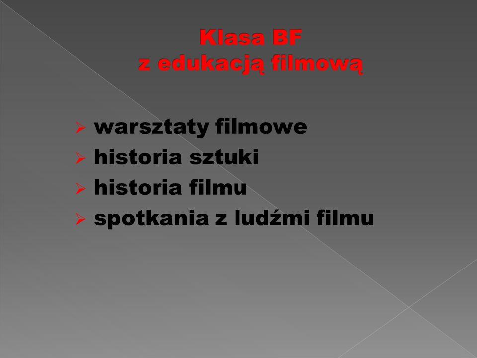  warsztaty filmowe  historia sztuki  historia filmu  spotkania z ludźmi filmu