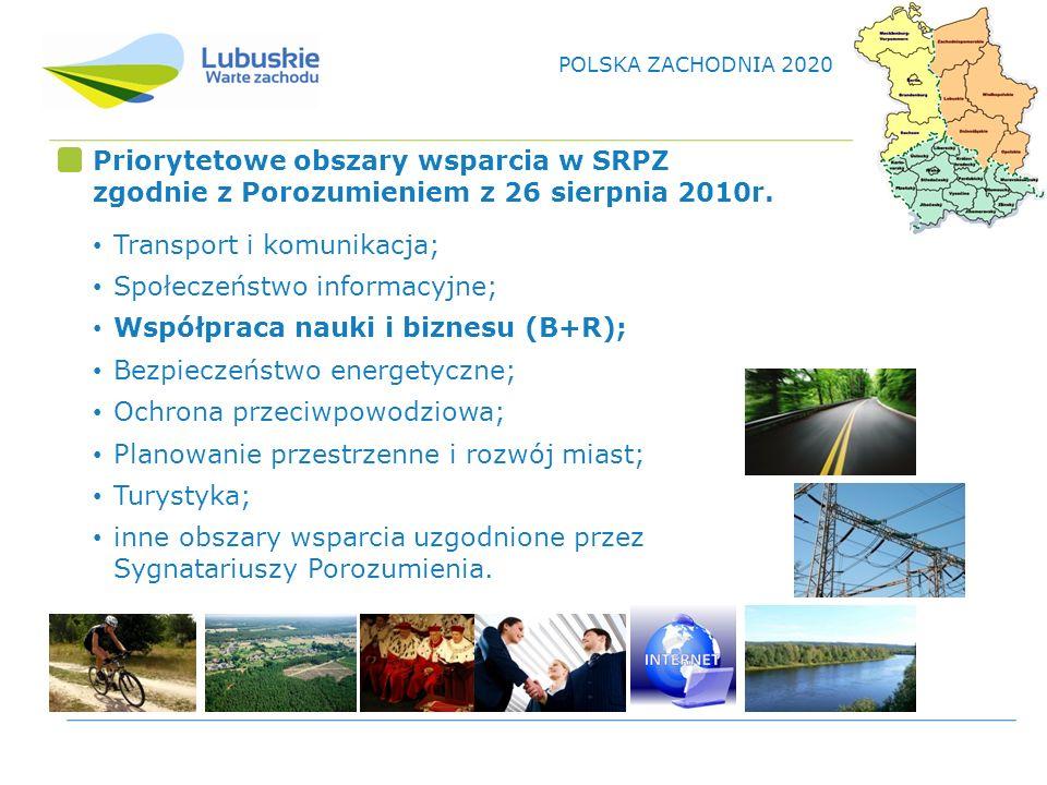 Priorytetowe obszary wsparcia w SRPZ zgodnie z Porozumieniem z 26 sierpnia 2010r.
