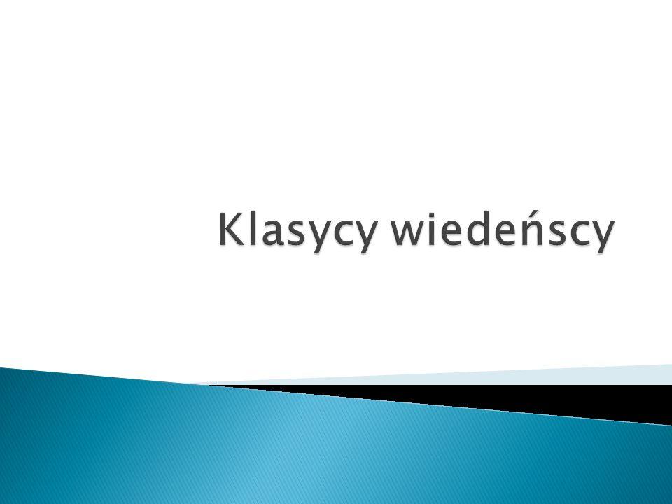Czołowi kompozytorzy klasycyzmu w muzyce od ok.1750 do 1830.