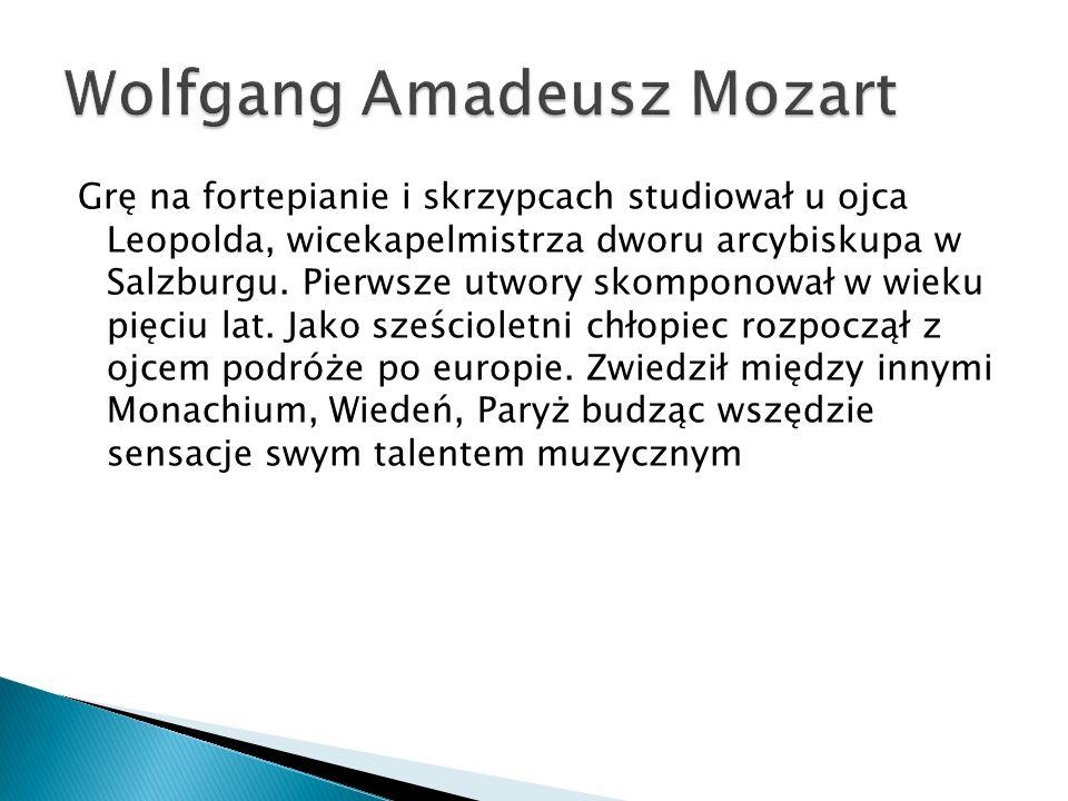Grę na fortepianie i skrzypcach studiował u ojca Leopolda, wicekapelmistrza dworu arcybiskupa w Salzburgu.