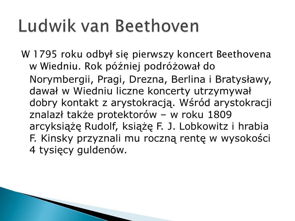 W 1795 roku odbył się pierwszy koncert Beethovena w Wiedniu.