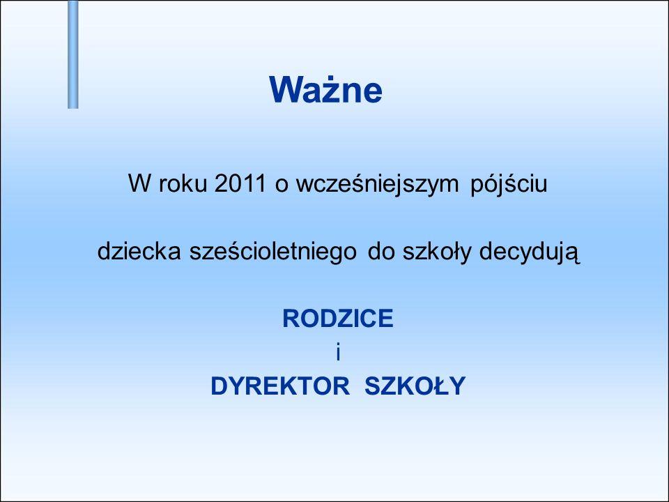 Wszystkie dzieci sześcioletnie zostaną objęte obowiązkiem szkolnym od 1 września 2012 Warto pamiętać