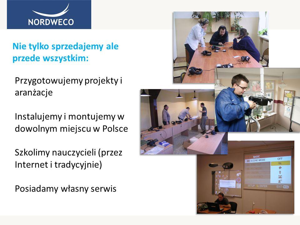 Nie tylko sprzedajemy ale przede wszystkim: Przygotowujemy projekty i aranżacje Instalujemy i montujemy w dowolnym miejscu w Polsce Szkolimy nauczycie