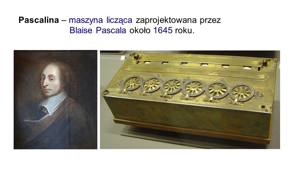 Pascalina – maszyna licząca zaprojektowana przez Blaise Pascala około 1645 roku.
