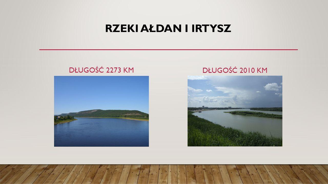 RZEKI AŁDAN I IRTYSZ DŁUGOŚĆ 2273 KM DŁUGOŚĆ 2010 KM