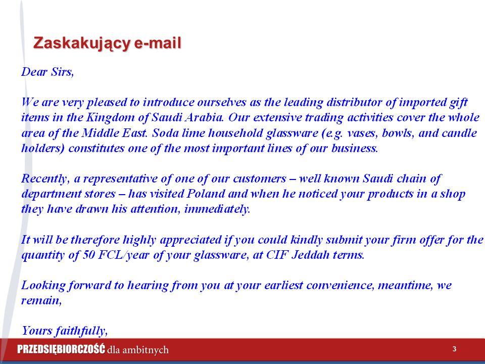 3 Zaskakujący e-mail
